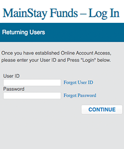 MainStay Funds Thumbnail Login